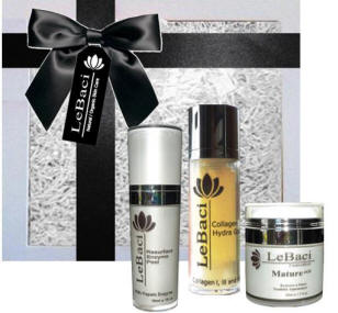Mature age peptide pamper gift set